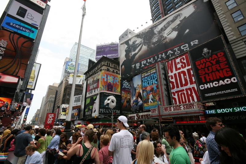 Times Square New York Empire State Building Weg